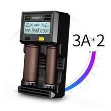 Miboxer C2 6000 2 Slots 3A/slot LCD Écran Smart Batterie Chargeur w pour Li-ion/INR/ICR/Ni-MH/Ni-cd/LiFePO4 rechargeable batteries