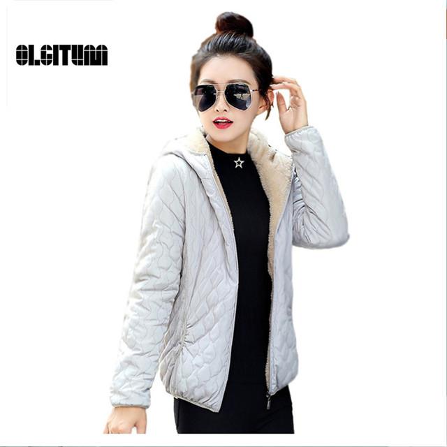 Jaqueta de 2016 Outono E Inverno Mulheres de Slim Curto Desgaste Wadded Jaqueta Feminina de Algodão-Acolchoado Jacket Outerwear Casaco de Inverno