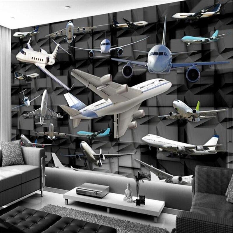 100% QualitäT Beibehang Tapete Kunden Wohnzimmer Schlafzimmer Tapete Wandbild Moderne Minimalistischen 3d Hintergrund Wand Aircraft Dekoration Herausragende Eigenschaften