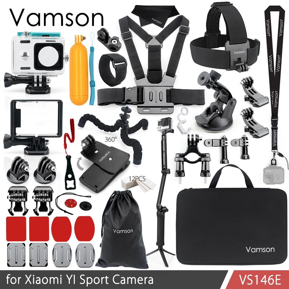 Vamson for Xiao YI Accessories Kit Waterproof Housing Case Standard Frame Box Adapter Tripod Monopod for YI Sport Camera VS146 ...