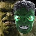 Оптовая 1 шт. Прохладный Косплей Светящийся Халк Маска Освещение СВЕТОДИОД Глаза Хэллоуин составьте Игрушки для Детей Загораются Маска Super Hero Подарок
