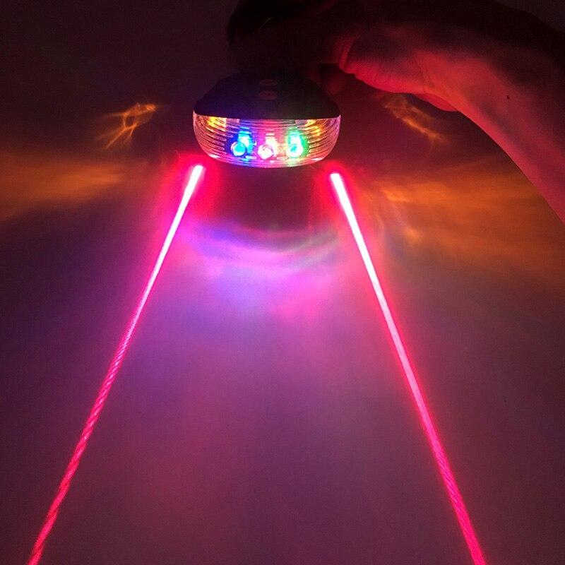 ZK20 LED de Colores de Luz 5LED 2 Laser Luz Trasera Luz de La Bicicleta de Noche