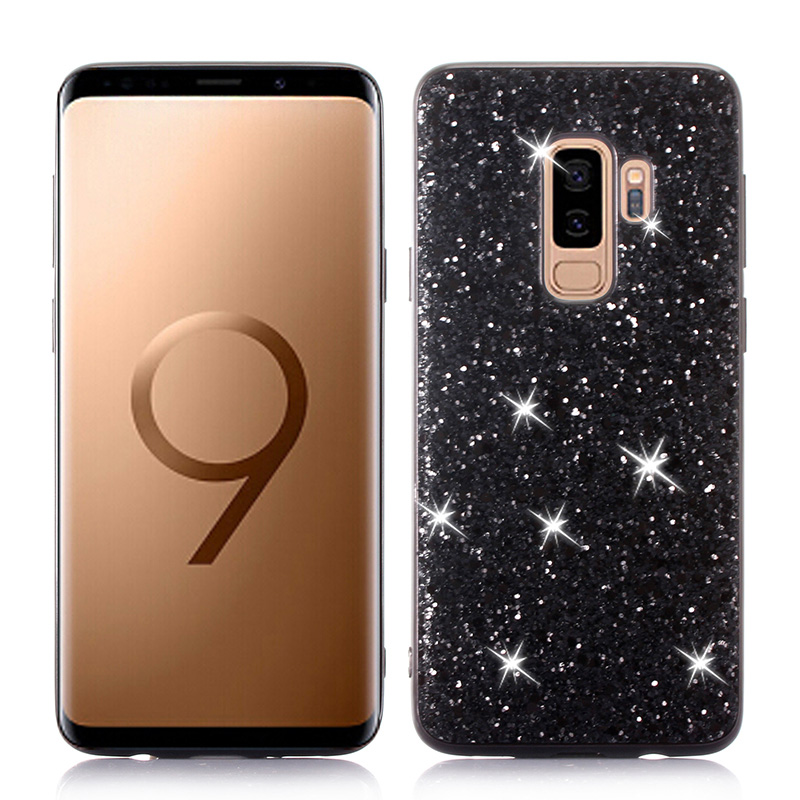 Cell Phone - Phone Case for Samsung Galaxy S9 Plus Case Silicon Bling Glitter Crystal Sequins Soft TPU Cover Fundas for Samsung S9 Plus S9