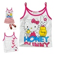 Retail Summer Pink Purple Hello Kitty Baby Tops Girls Tees Children Tshirts Kids Shirts Infant T-Shirt Clothes Toddler Clothing