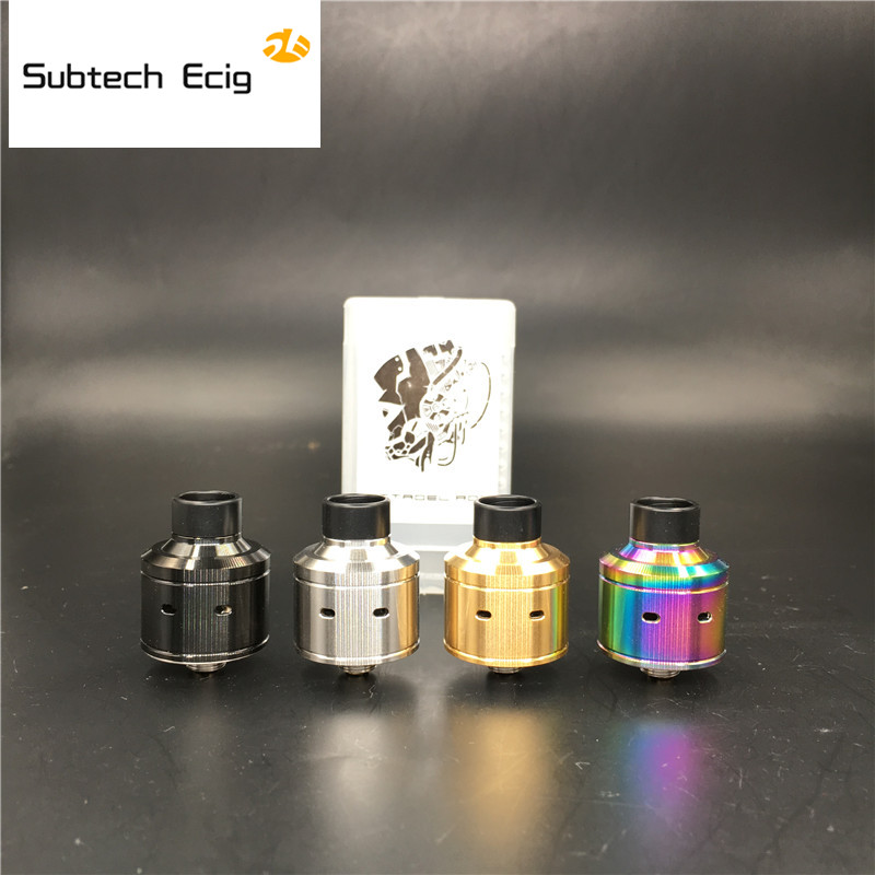 Newest Hadaly Citadel RDA Atomizers With Wide Bore Drip Tip 22MM Diameter Electronic Cigarette Huge Vapor Fit 510 Mod