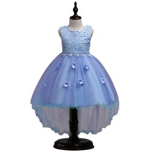Fashion New Beading Flower Girls Dress for Birthday Wedding Birthday Party High Low Hem Tulle Princess Kids Dresses for Girls ircomll girls party dresses kids dress new flower design flower appliqued a line princess costume for girls wedding birthday