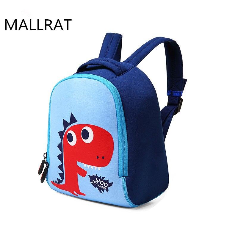 ФОТО MALLRAT Cute Dinosaur Children Backpack Neoprene Waterproof Orthopedic School Bags For Teenage Girls Boys Kids Baby Backpacks