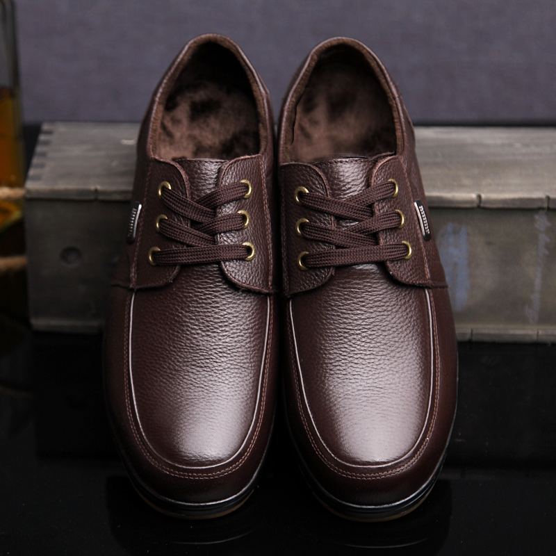 Black Brown Men's Leather Shoes 2018 New England Leather Shoes - Men's Shoes - Photo 2