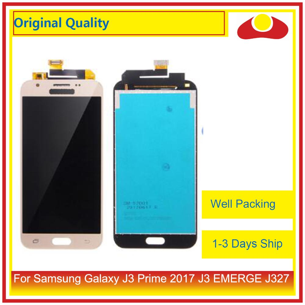 Image 2 - 50Pcs/lot Original For Samsung Galaxy J3 Prime J3 EMERGE J327 LCD Display With Touch Screen Digitizer Panel Pantalla Complete-in Mobile Phone LCD Screens from Cellphones & Telecommunications
