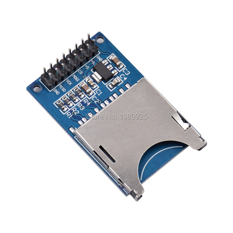 10PCS/LOT Reading And Writing Module SD Card Module Slot Socket Reader ARM MCU