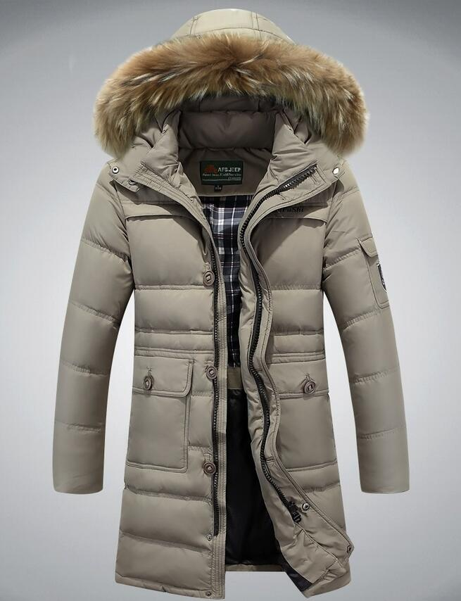 M 4xl Plus Size 2016 Autumn Winter Straight Men White Duck Down Jackets And Coat Fake
