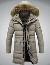 M~4xl Plus Size 2016 Autumn Winter Straight Men White Duck Down Jackets And Coat Fake Fur Collar Casual Brand-clothes