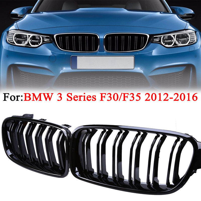 One Pair For BMW F30 F31 3Series Kidney Grill Grille Hood