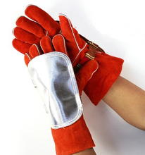 Welding Gloves Pad High Heat Protection Aluminized & Cowhide Leather Anti Flame Retardant Stitching