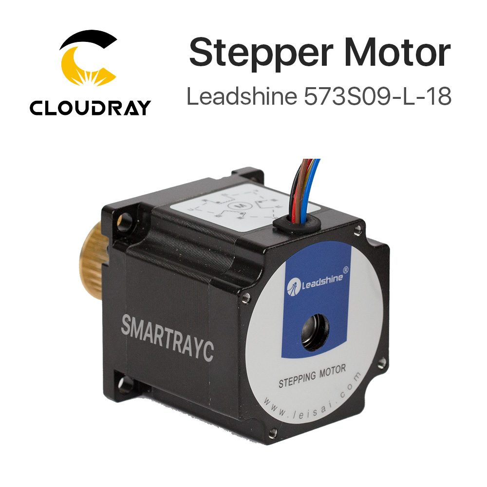 цена на Cloudray Leadshine 3 Phase Stepper Motor 573S09-L-18 for NEMA23 3.5A Length 50mm Shaft 6.35mm