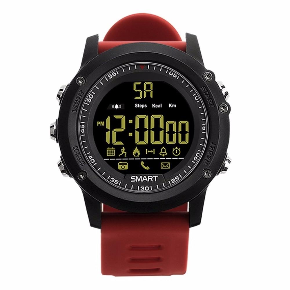 EX17 IP67 Waterproof Smart Watch Luminous Dial Pedometer Stopwatch Fitness Tracker Sports Watch Support Remote Camera