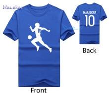 New fashion diego Maradona 10 print t shirt 100% cotton short sleeve O-neck t shirt casual t shirt
