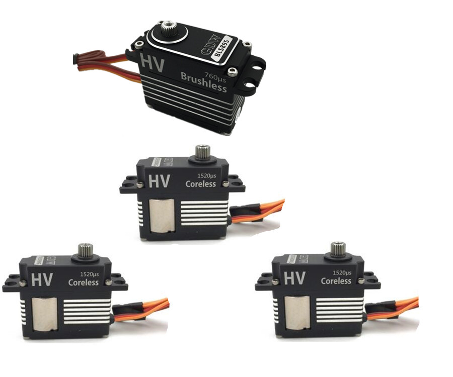 GDW 3 pieces DS590MG 1 pieces BLS895 HV Medium Digital Metal Servo Helicopter Parts Suitable For
