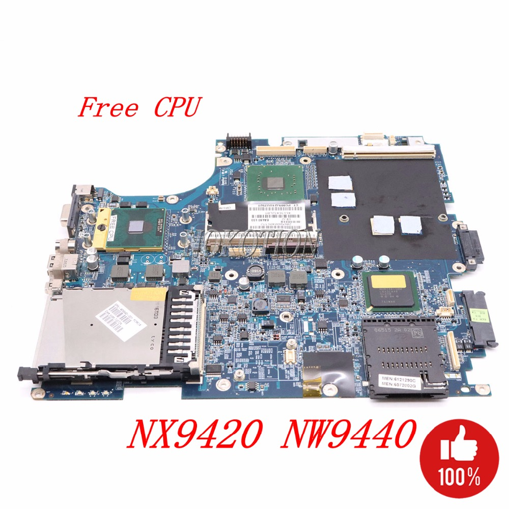 NOKOTION 409959-001 LA-2821P Laptop Motherboard for HP NX9420 NW9440 INTEL With graphics slot DDR2 Main board Free CPU nokotion laptop motherboard for hp pavilion dv3 intel pm45 ddr2 with nvdia graphics kjw10 la 4735p 576795 001