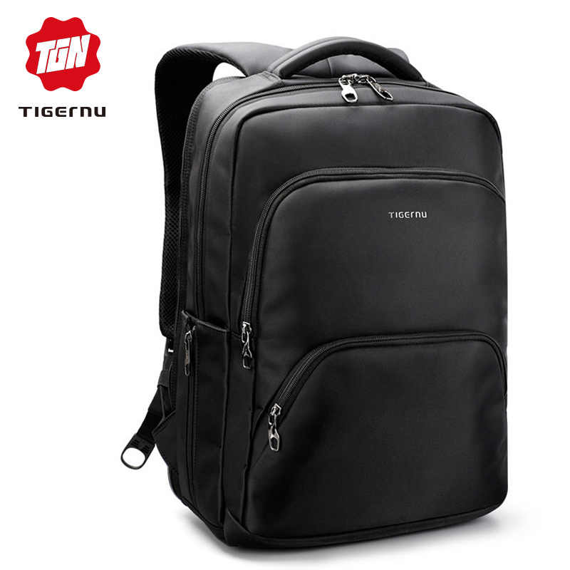 Tigernu Waterproof Large Capacity 17 Inch Man Backpacks Laptop Bag Black Backpack for Women School Bags Mochila Masculina baijiawei men and women laptop backpack mochila masculina 15 inch backpacks luggage