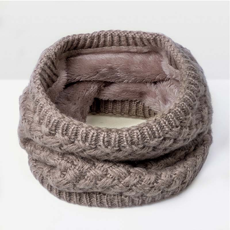 Зимний шарф для женщин, мужчин, детей, утолщенный шерстяной воротник, шарфы для девочек, шейный шарф, хлопок, унисекс, вязаный шарф-кольцо - Цвет: G