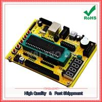 Free Shipping 2pcs ZK 1 51 AVR Microcontroller System Board USB Download Program Development Board Tutorial