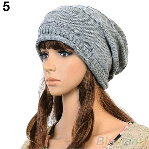 Autumn Winter Women Plicate Baggy Beanie Knit Wool Hat Solid Crochet Ski Cap Oversized Slouch Hat hot sale unisex winter plicate baggy beanie knit crochet ski hat cap
