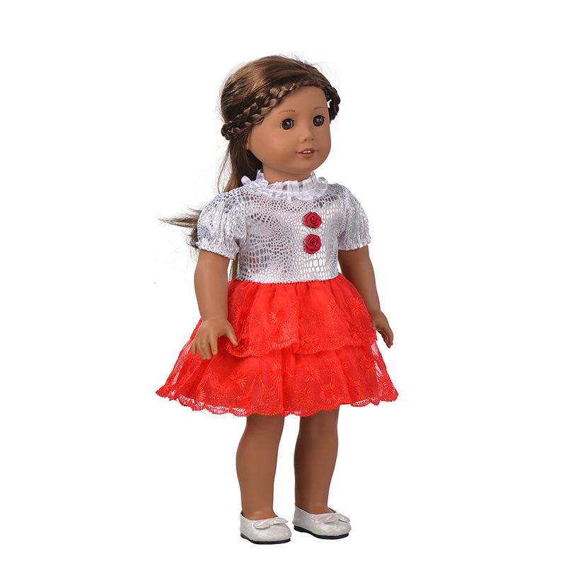 Best gift for children new style handmade 18 Inch American Girl Doll dresses(without shoes)b724