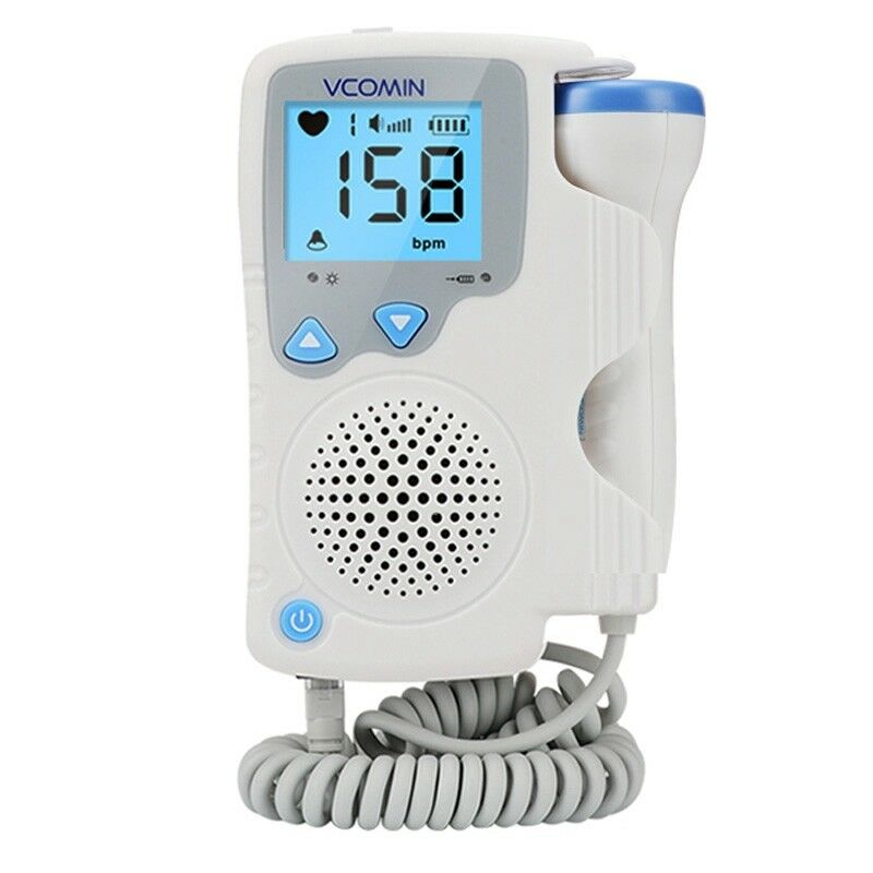 Prenatal Fetal Doppler Baby Heartbeat  Monitor Baby Heart Rate Detector Sonar Doppler 2.0MHz  For Pregnant Women No Radiation