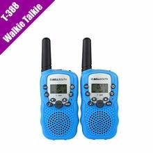 T-388 Mini Walkie Talkie UHF 462.550-467.7125 MHz 0.5 W 22CH Para Los Niños Del Cabrito Pantalla LCD A0762Z 2 unids/set