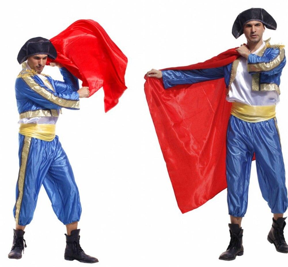 Adults Halloween Costumes Matador Costume Bull Fighter Cosplay Uniforms Spanish Bullfighters Dancing Costumes For Men full set