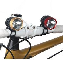 Велосипедный спорт Велоспорт Белый проблесковые светодиодные фонари спереди и сзади хвост шлем красный безопасности Предупреждение лампа Велоспорт осторожность Алюминий свет Водонепроницаемый