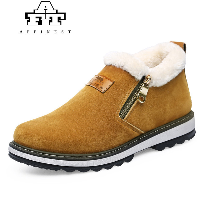 405e557d5e3b Winter Running Shoes For Men Women Warm Leather Snow ZIP Sneakers with Plush  Fur Outdoor Sports zapatillas hombre deportiva