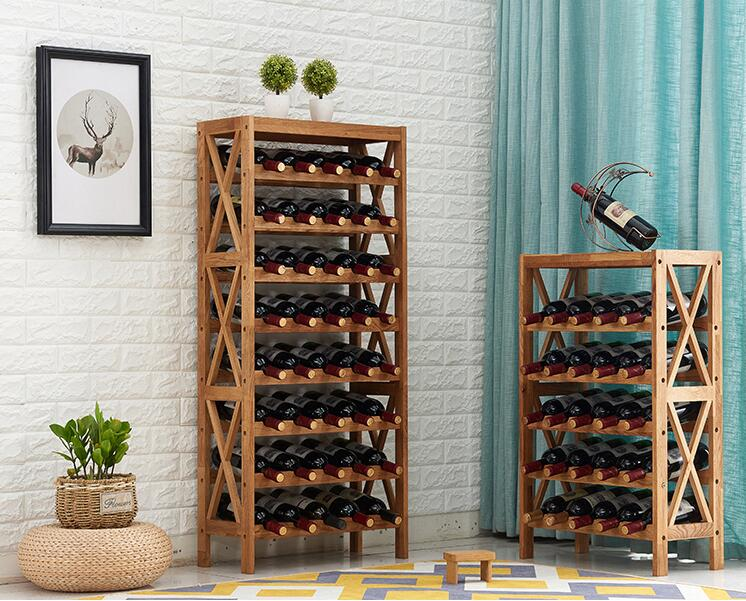 Modern Wooden Wine Rack Cabinet Display Shelf Bar Globe for Home Bar ...