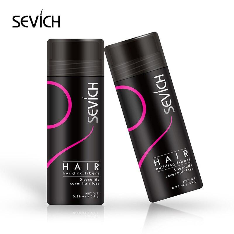 Pelo de queratina de fibra de fibras de engrosamiento del cabello estilo  polvo SEVICH producto de la pérdida del cabello de Peluca de extensión de  25g 10 ... 60feb3a293e6