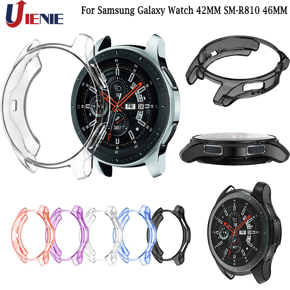 Case Shell for Samsung Galaxy Watch 42MM SM R810 46MM Gear S3 Frontier TPU Protector Frame Smartwatch Cover Protective Shell-in Smart Accessories from Consumer Electronics