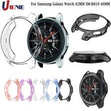 Kılıf kabuk Samsung Galaxy izle 42MM SM R810 46MM dişli S3 sınır TPU koruyucu çerçeve Smartwatch kapak koruyucu kabuk