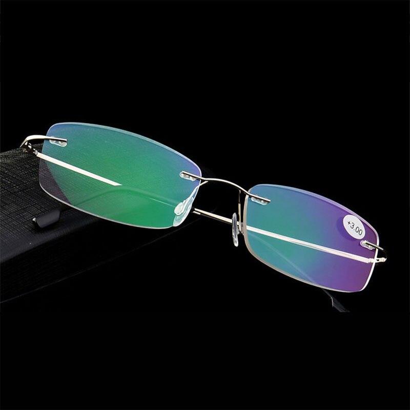 Rimless Reading Eyeglasses for Men and Women Optical Prescription Glasses Frame Reading Spectacles Rimless Frame with 2 Styles