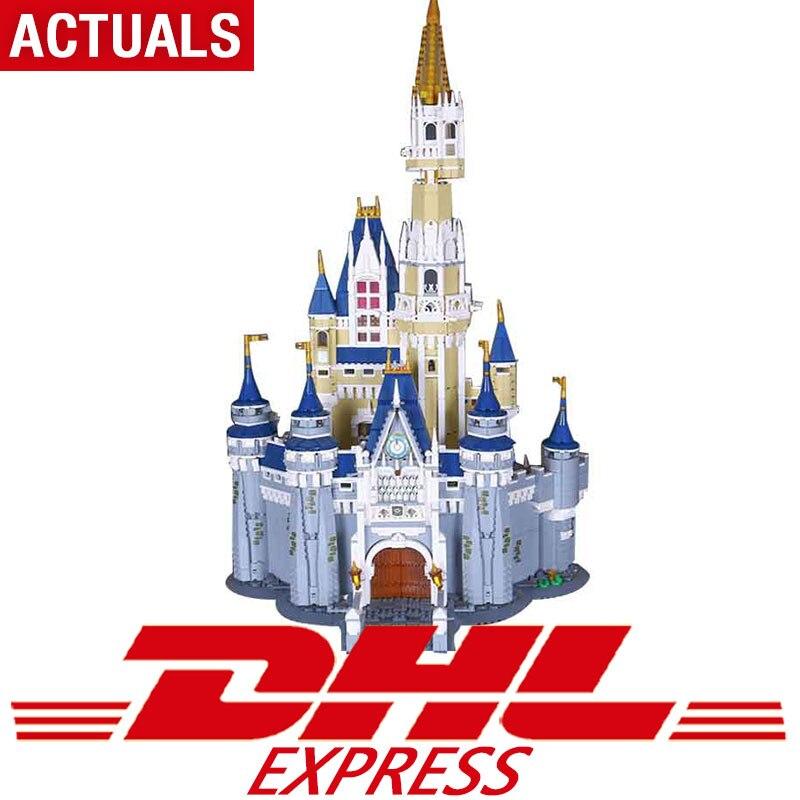 В наличии 16008 Legoing 71040 Золушка Принцесса замок город Набор Модель Строительный блок кирпич Развивающие игрушки для детей для подарков