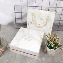 Square Creative Marble Valentine Festival Gift Box Birthday Gift Box