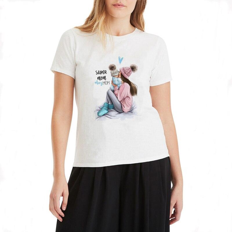 Womens Fashion Harajuku Super Mom Plus Size Funny T Shirts Korean Clothes 90s Clothing