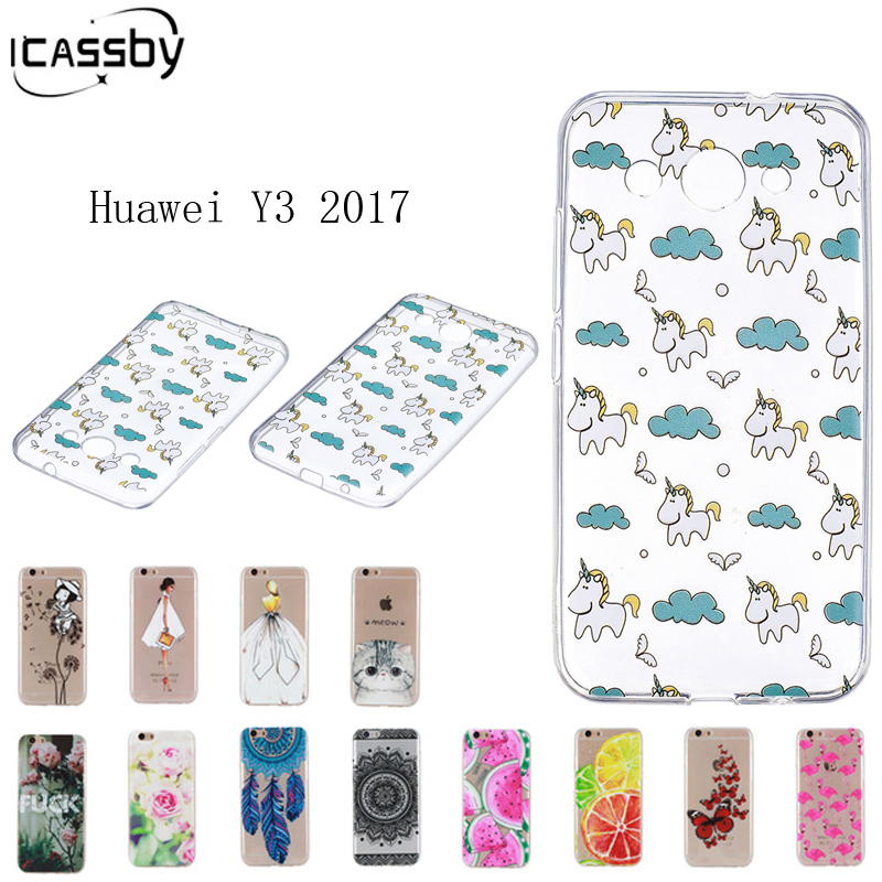 Soft TPU Protector Case For Huawei Y3 2017 Case Ultrathin Silicone Back Cover  Phone Case for Hawei