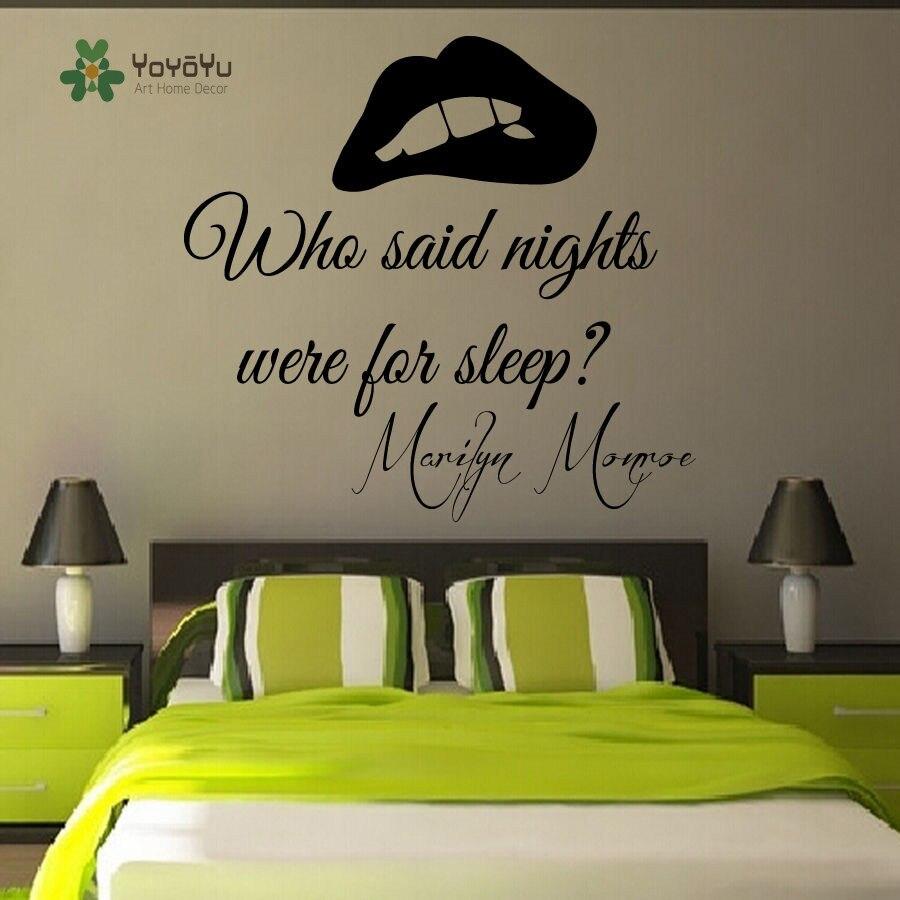 YOYOYU Wand Aufkleber Abnehmbare Vinyl Wand Aufkleber Marilyn Monroe ...