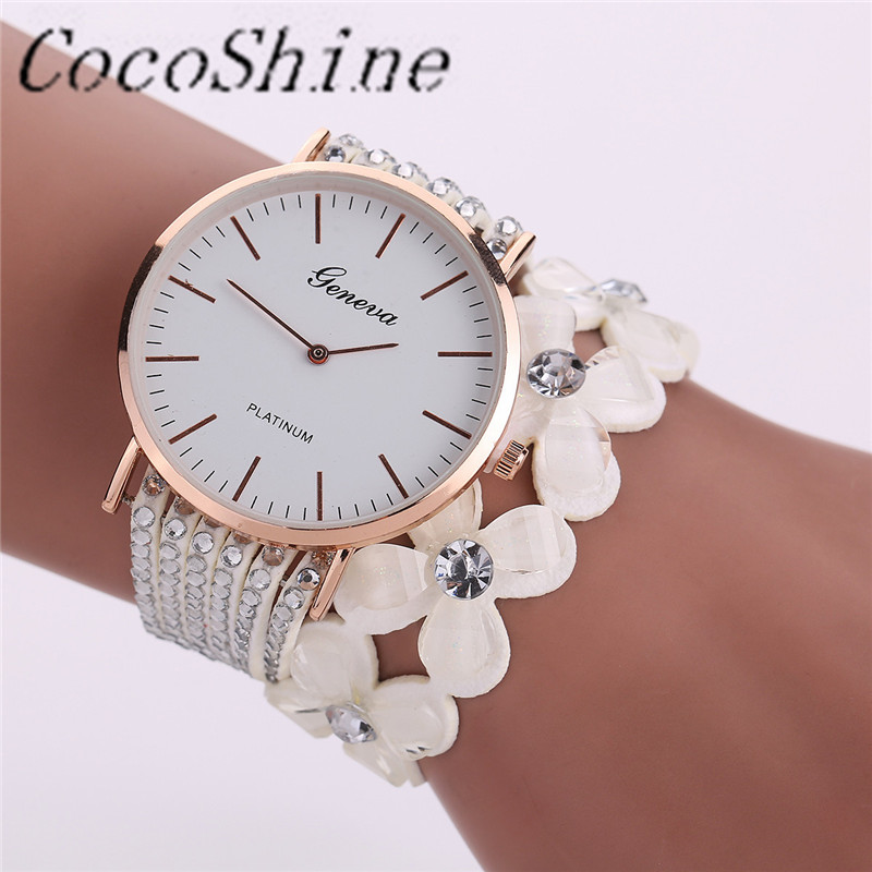 CocoShine A 888 Fashion Leisure Womens Quartz Bracelet font b Watch b font Crystal Diamond Wrist