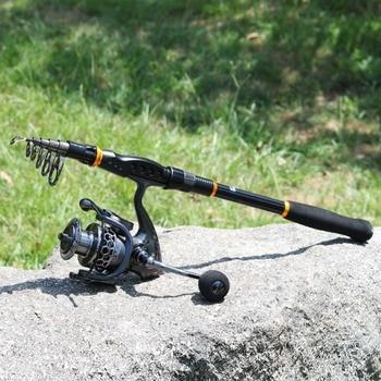 Canna Da Pesca Telescopica | Sougayilang 1.8-3.6 M Canna Da Pesca Reel Combos Telescopica Portatile Di Filatura Di Pali E Bobina Di Filatura Con Bobina Di Ricambio Set De Pesca