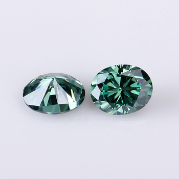Green color 8*6mm oval shape brilliant cut moissanites loose stone for jewelry making