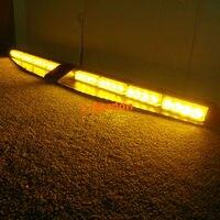 2x 16 LED Exclusive Split Visor Deck DashCar Truck Emergency Beacon LightBar Strobe Warning Amber LightBar