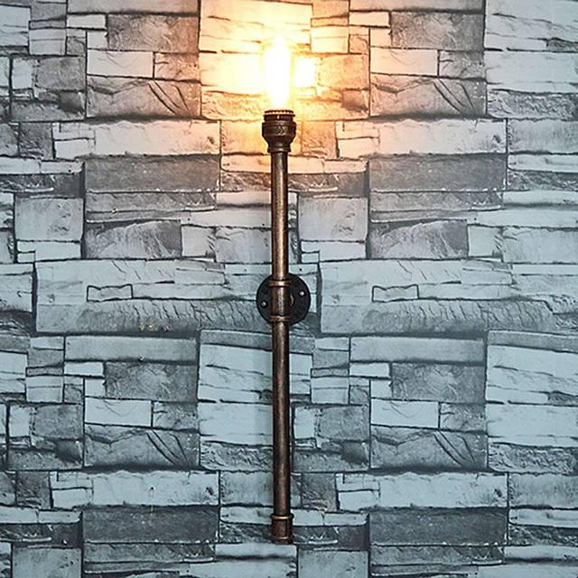 New Fashion Wroguht Iron Water Pipe Wall Lamp Vintage Aisle Lights ...
