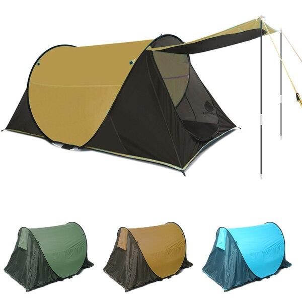 2.3x1.3x0.9 m tente Super légère Portable 2 personnes tentes simples tentes de Protection UV 4 saisons Camping tente extérieure pour l'extérieur