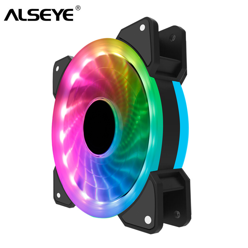 ALSEYE RGB Ventilateur 120mm Ordinateur Ventilateur De Refroidissement 12 v LED Arc-En-Unique Modã ¨ Le 51CFM 1300 rpm
